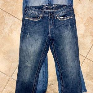 Adorable trendy seven 7 jeans sz 8 cute!